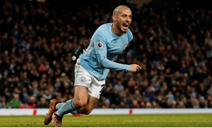 Soccer Football - Premier League - Manchester City vs West Ham United - Etihad Stadium, Manchester, Britain - December 3, 2017 Manchester City's David Silva celebrates scoring their second goal REUTERS/Russell Cheyne