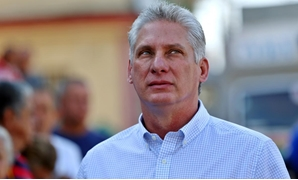 FILE PHOTO: Cuba's First Vice-President Miguel Diaz-Canel stands in line before casting his vote during an election of candidates for the national and provincial assemblies, in Santa Clara, Cuba March 11, 2018. REUTERS/Alejandro Ernesto/Pool/File Photo