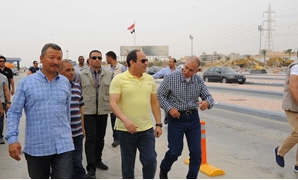 FILE- President Abdel Fatah al-Sisi inspected the ongoing expansion works of the Cairo-Ain Sokhna Road