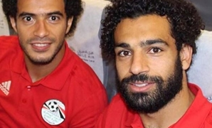Omar Gaber and Mohamed Salah with Egypt's jersey – Courtesy of Omar Gaber's official Instagram account