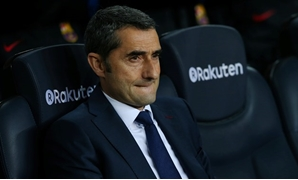 Soccer Football - La Liga Santander - FC Barcelona vs Leganes - Camp Nou, Barcelona, Spain - April 7, 2018 Barcelona coach Ernesto Valverde before the match REUTERS/Albert Gea