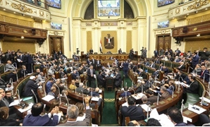 FILE - Egyptian parliamentarians hold talks