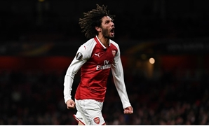 Europa League - Arsenal vs BATE Borisov - Emirates Stadium, London, Britain - December 7, 2017 Arsenal's Mohamed Elneny celebrates scoring their sixth goal - REUTERS/Dylan Martinez