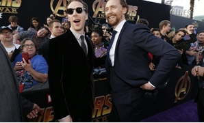 "Premiere of ""Avengers: Infinity Wars"" - Arrivals - Los Angeles, California, U.S., 23/04/2018 - Actors Benedict Cumberbatch (L) and Tom Hiddleston. REUTERS/Mario Anzuoni"