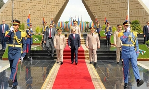 FILE – President Sisi marks the 35th anniversary of Sinai Liberation day, 2017