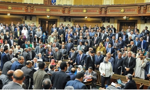 Egypt's House of Representatives members voted by standing for the judiciary authority law - Egypt Today - Hazem Abdel - Samad
