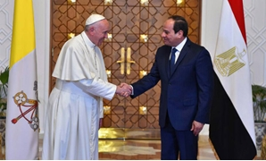 Sisi, Pope Francis during their meeting - Press Photo