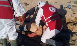 Red Crescent recovers unidentified bodies in Libya - press photo