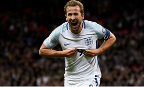 Wembley Stadium, London, Britain - October 5, 2017 England's Harry Kane celebrates scoring their first goal REUTERS/Dylan Martinez