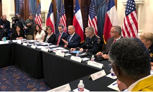 Texas Governor Greg Abbott hosts a round table discussion, on school safety to prevent another mass shooting, at the Texas Capitol in Austin, Texas, U.S., May 22, 2018. REUTERS/Jon Herskovitz