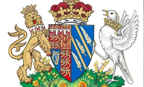 Britain's Meghan, the Duchess of Sussex's, new coat of arms can be seen in this undated handout illustration issued by Kensington Palace in London, Britain, May 25, 2018. Kensington Palace/Handout via REUTERS