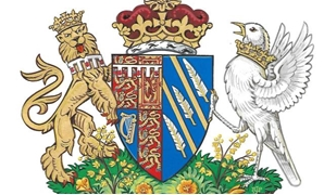 Britain's Meghan, the Duchess of Sussex's, new coat of arms can be seen in this undated handout illustration issued by Kensington Palace in London, Britain, May 25, 2018. Kensington Palace/Handout via REUTERS.