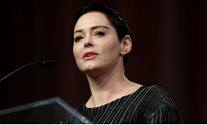 FILE PHOTO: Actor Rose McGowan addresses the audience during the opening session of the three-day Women's Convention at Cobo Center in Detroit, Michigan, U.S., October 27, 2017. REUTERS/Rebecca Cook.