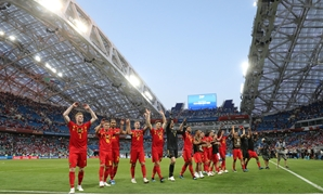 Soccer Football - World Cup - Group G - Belgium vs Panama - Fisht Stadium, Sochi, Russia - June 18, 2018 Belgium players celebrate after the match REUTERS/Marcos Brindicci