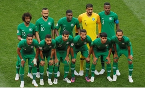Russia vs Saudi Arabia - Luzhniki Stadium, Moscow, Russia - June 14, 2018 Saudi Arabia team group before the match REUTERS/Maxim Shemetov