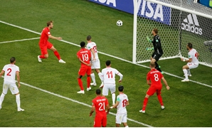 Soccer Football - World Cup - Group G - Tunisia vs England - Volgograd Arena, Volgograd, Russia - June 18, 2018 England's Harry Kane scores their second goal REUTERS/Gleb Garanich