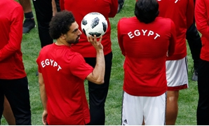 Soccer Football - World Cup - Egypt Training - Saint Petersburg Stadium, Saint Petersburg, Russia - June 18, 2018 Egypt's Mohamed Salah during training REUTERS/Anton Vaganov