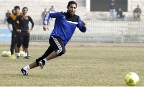 "Ahmed Hossam ""Mido"" attends his first soccer training session in the club at Helmy Zamora Stadium in Cairo, January 23, 2014. REUTERS/Mohamed Abd El Ghany"