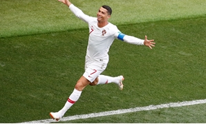 Soccer Football - World Cup - Group B - Portugal vs Morocco - Luzhniki Stadium, Moscow, Russia - June 20, 2018 Portugal's Cristiano Ronaldo celebrates scoring their first goal REUTERS/Christian Hartmann