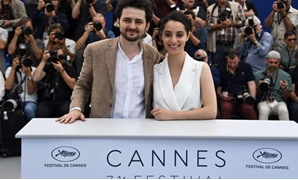 Egyptian-Austrian director Abu Bakr Shawky and the producer Dina Emam-Press Photo