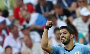 Football - World Cup - Group A - Uruguay vs Saudi Arabia - Rostov Arena, Rostov-on-Don, Russia - June 20, 2018 Uruguay's Luis Suarez celebrates scoring their first goal REUTERS/Marko Djurica