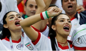 Soccer Football - World Cup - Group B - Iran vs Spain - Kazan Arena, Kazan, Russia - June 20, 2018 Iran fans inside the stadium before the match REUTERS/Jorge Silva