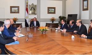 President Abdel Fatah al-Sisi's meeting with Eni CEO Claudio Descalzi  – press photo