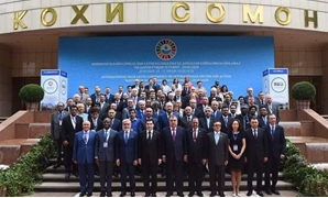 "World Water Ministers pose for a photo in the Tajikistan-held High-level International Conference on International Decade for Action ""Water For Sustainable Development,"" 2018-2020 - Press photo"