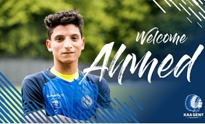 Ahmed Mostafa with KAA Gent jersey – Courtesy of KAA Gent official website
