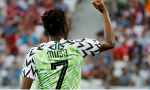 Soccer Football - World Cup - Group D - Nigeria vs Iceland - Volgograd Arena, Volgograd, Russia - June 22, 2018 Nigeria's Ahmed Musa celebrates scoring their second goal REUTERS/Toru Hanai