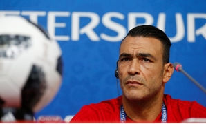 Egypt's Essam El-Hadary during the post-match press conference REUTERS/Anton Vaganov
