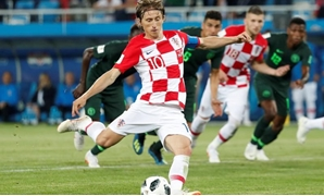 Kaliningrad Stadium, Kaliningrad, Russia - June 16, 2018 Croatia's Luka Modric scores their second goal from a penalty REUTERS/Murad Sezer