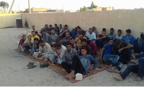 Seventy Egyptian illegal immigrants arrested on July 17 in Libya, before embarking on a journey to Europe – Press Photo