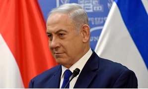 Israeli Prime Minister Benjamin Netanyahu attends a joint statment with Hungarian Prime Minister Viktor Orban (not seen) at the prime minister's office in Jerusalem, July 19, 2018. Debbie Hill/Pool via Reuters