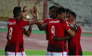 Al-Ahly players celevrate Azarro's goal - Photo courtesy of Al-Ahly official website