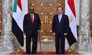 Egypt's President Abdel Fatah al-Sisi with his Sudanese counterpart Omar al-Bashir – Press photo