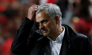 Estadio da Luz, Lisbon, Portugal - October 18, 2017 Manchester United manager Jose Mourinho reacts REUTERS/Pedro Nunes