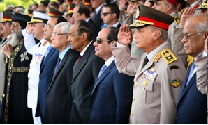 President Abdel Fatah al-Sisi attends the graduation ceremony of military academies on July 22, 2018 - Press Photo/courtesy by The Presidency