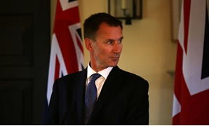 FILE PHOTO: Britain's Foreign Secretary Jeremy Hunt gives a press conference at the Royal Botanic Garden in Edinburgh, Scotland July 20, 2018.