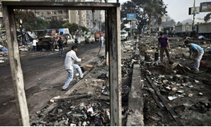 The debris of Rabaa al-Adawiya square in Cairo ( AFP/Getty)