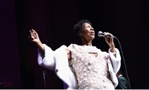 Aretha Franklin is shown here performing at the Elton John AIDS Foundation event in New York in November 2017 -- her last known public performance.