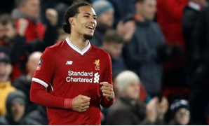 Soccer Football - FA Cup Third Round - Liverpool vs Everton - Anfield, Liverpool, Britain - January 5, 2018 Liverpool's Virgil van Dijk celebrates with Joel Matip at the end of the match Action Images via Reuters/Carl Recine