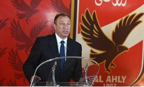 FILE - Al-Ahly current president Mahmoud El-khatib