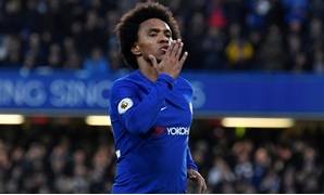 Soccer Football - Premier League - Chelsea vs Crystal Palace - Stamford Bridge, London, Britain - March 10, 2018 Chelsea's Willian celebrates scoring their first goal REUTERS/Toby Melville