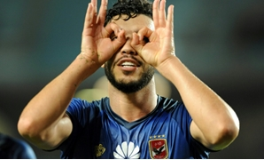 Eyes for goal: Al Ahly's Walid Azaro celebrates his goal