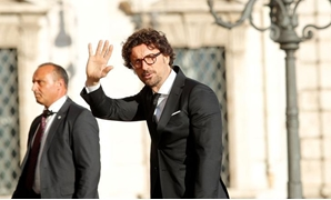 Italy's Minister of Infrastructure and Transport Danilo Toninelli arrives for gala dinner at the Quirinal palace in Rome, Italy, June 1, 2018.