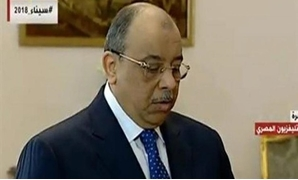 Mahmoud Sharawy takes the oath as the new Local Development Minister - screenshot from the national