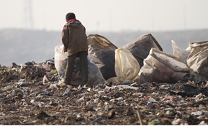 A street child collects garbage in Katamyia district- Cairo/Egypt Today/Maher ISkander