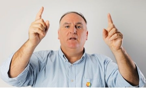 Chef Jose Andres poses for a portrait while promoting his new book, We Fed an Island, in New York September 12, 2018. Picture taken September 12, 2018. REUTERS/Lucas Jackson