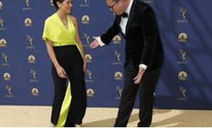 70th Primetime Emmy Awards– Arrivals – Los Angeles, California, U.S., 17/09/2018 – Tatiana Maslany and Kristian Bruun. REUTERS/Kyle Grillot